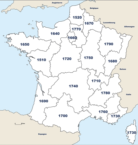 Districts Rotary en France