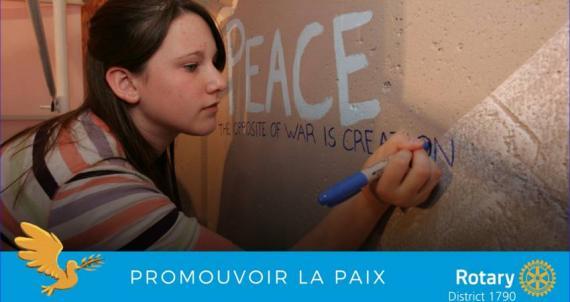 Promouvoir la paix avec le Rotary
