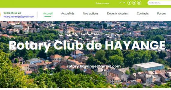 Le nouveau site du Rotary Club d'Hayange en ligne
