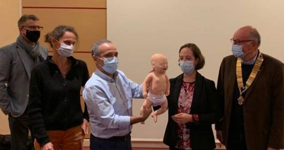 RC Epinal : Mannequin pour simulation de réanimation néonatale