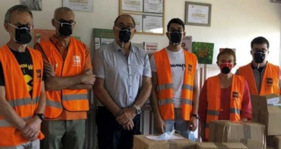 RC Nancy Ouest - Remise de masques à la banque alimentairejpg