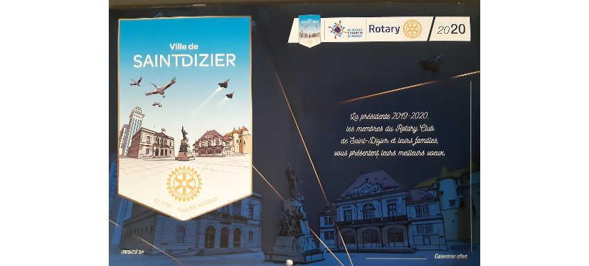 RC St Dizier : Un calendrier rotarien pour présenter ses vœux