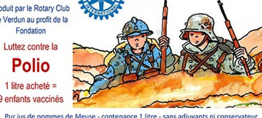 RC Verdun : Opération jus de pommes pour lutter contre la polio
