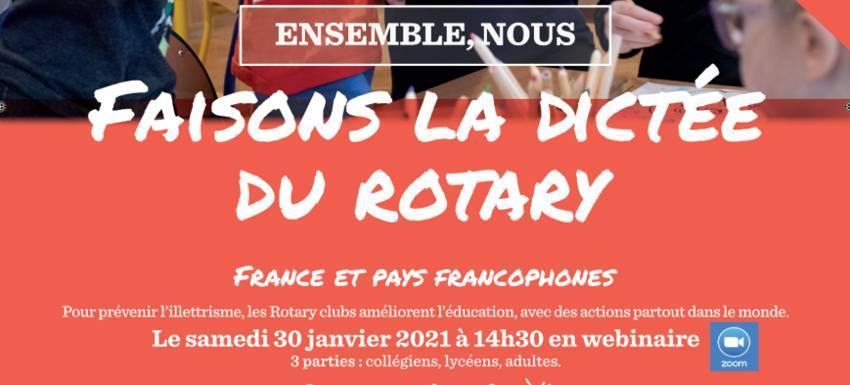 Dictée du Rotary : En « Webinaire »