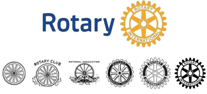 Evolution du logo du Rotary international
