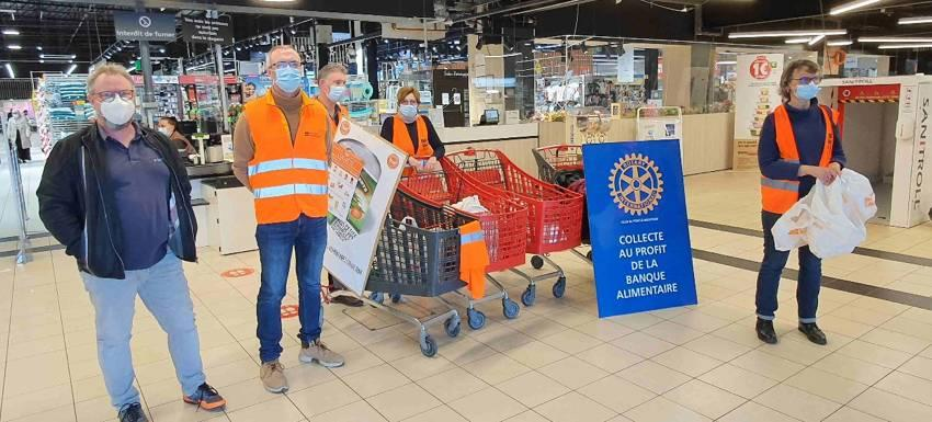 RC Pont-à-Mousson : Engagé aux côtés de la Banque alimentaire