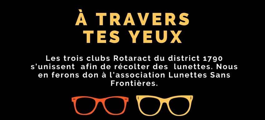 Les clubs Rotaract récupèrent les vieilles lunettes