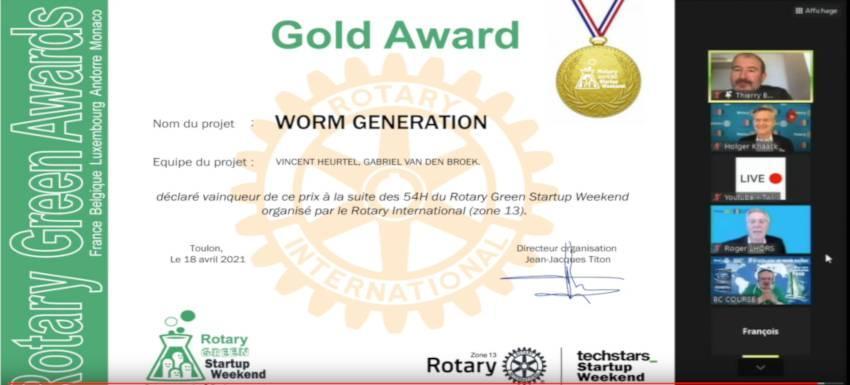 Deux jeunes Lorrains lauréats au Rotary green startup week-end