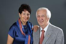 Jacky CHEF, Gouverneur 2016-17, et son épouse Françoise